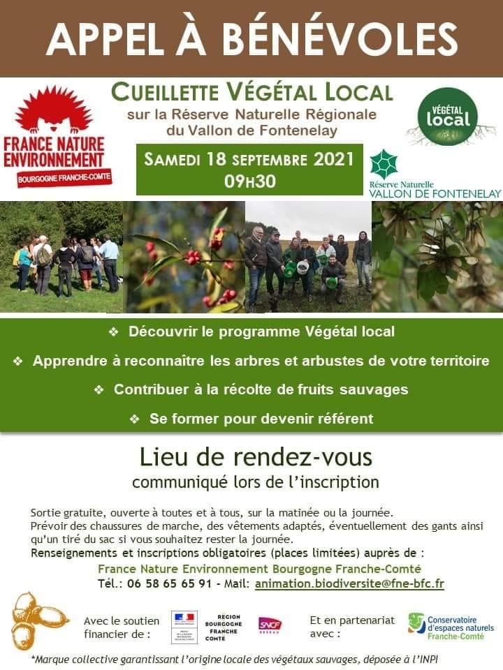 affiche collecte végétal local FNE BFC